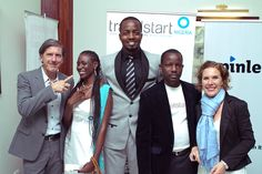 OLORI SUPERGAL: Travelstart Nigeria Launches at Oriental Hotel in style! - Left to right: Stephan Ekbergh, Tosin Adefope, Olamidun Akinde, Tosin Oyenusi, Maija de Rijks Uys