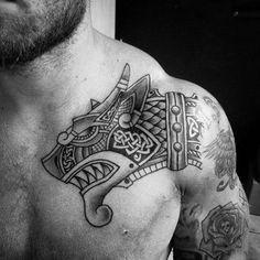 Dragon Head Tattoo, Celtic Dragon Tattoos, Dragon Tattoos For Men, Chinese Dragon Tattoos, Dragon Tattoo Designs, Viking Tattoos, Tattoo Designs Men, Tattoos For Guys, Viking Dragon Tattoo