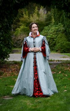 I have seen many loose overgowns or coats, both in portraiture and on costumers.  They made me think that it might be nice someday to make a loose gown to wear around camp as lazy garb when I am ju...