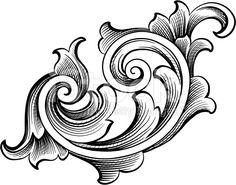 Fancy Scroll royalty-free stock vector art