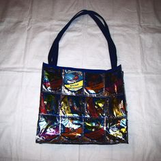Upcycled Juice Pouch Tote Bag or Diaper Bag by GreenDesignsByLisa, $35.00