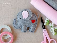 Simon Says Stamp Sweet Elephant plush die. Project by Wanda Guess