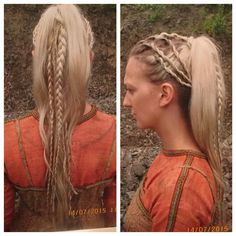 #TorviHair episode 8 . The ponytail #Vikings4 @historyvikings