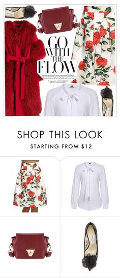 """Go with the flow"" by teoecar ❤ liked on Polyvore featuring Vionnet, Jimmy Choo and vintage"