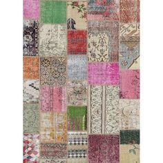 Ruggable 2-Piece Washable Rug System - Patchwork