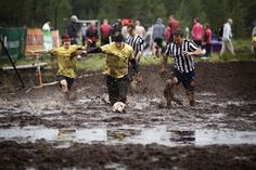 The weather is so perfect to get out on the muddy field and play your madness out.   Try on this sport #SwampSoccer, which is exactly what you look for.