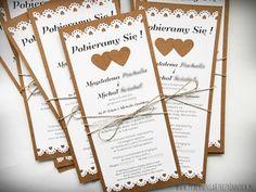Rustykalne zaproszenie eko z wycinaną koronką Invitation Ideas, Rustic Wedding, Wedding Planner, Wedding Invitations, Scrapbooking, Boho, Diy, Invitation Cards, Invitations