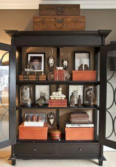 cabinet interior.