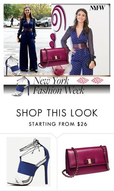 """Style It: Best NYFW Trend"" by rilner ❤ liked on Polyvore featuring Diane Von Furstenberg, Salvatore Ferragamo and NYFW"