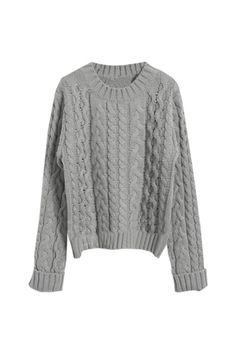 Cable Knit Chunky Sweater. love how this can go with everything in my closet at the moment.