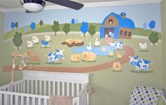 Farm mural I painted for my sons nursery.