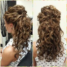 Half Up Do. Maid of honor hair. Wedding hair.
