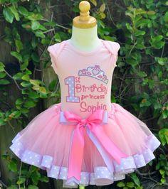 Girls Birthday 1st Birthday Princess Pink & Purple EleganceTutu Set - (Now in 2nd,3rd,4th!)