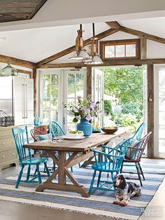 The color blue Rustic Wake-Up