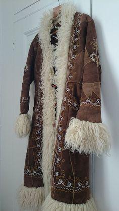 Genuine Vintage 1970s Afghan Coat