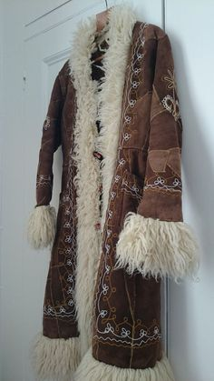 Genuine Vintage 1970s Afghan Coat