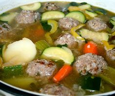 Slow cooker Mexican meatball soup.Delicious Mexican soup with meatballs,vegetables and herbs cooked in slow cooker.