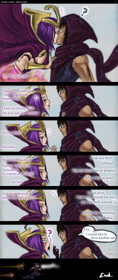 Malzahar X Leblanc - teleport accident by No-sabe.deviantart.com on @DeviantArt