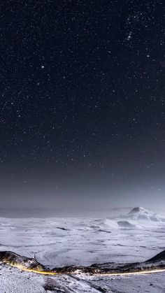 Night-Stars-Mountain-Range-Winter-Landscape-iPhone-6-wallpaper.