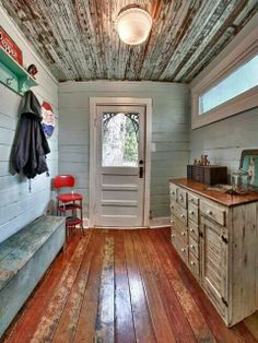 Mud Room - ceiling!  Yes!
