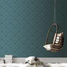Voyesy turquoise wallpaper - blue green wall coverings by graham brown обои зелен Turquoise Wallpaper, Damask Wallpaper, Green Wallpaper, Cool Wallpaper, Designer Wallpaper, Turquoise Art, Beautiful Wallpaper, Wallpaper Ideas, Stunning Wallpapers