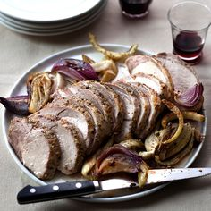 This fragrant pork roast with roasted fennel and onions is wonderful for fall or winter entertaining.
