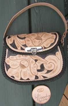 Floral+Carved+Leather+Handbag+with+Mexican+Round+Braid