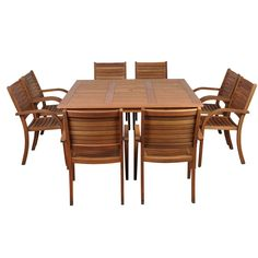 last frontier 6 piece dining set with cushion outdoor living