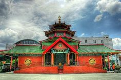 Surabaya   Muhammad Cheng Ho Mosque. Sebelum masjid dibangun, ini adlh lapangan tempat olah raga SD saya :)