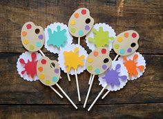 Art Party Cakes, Art Party Decorations, Art Themed Party, Candy Theme Birthday Party, Artist Birthday, Birthday Painting, Diy Birthday Invitations, Paint Themes, Rainbow Painting