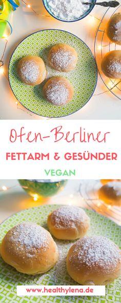 Egal ob Karneval oder Silvester – wenn Berliner auf den Tisch kommen, gibt es meistens etwas zu feiern. Meine veganen Ofen-Berliner sorgen für noch mehr Grund zur Freude. Das Rezept ist nämlich nicht nur voller guter Zutaten, es ist zudem auch noch ziemlich fettarm und viel gesünder. (Krapfen, Pfannkuchen)