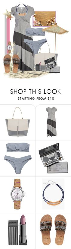 """Cork And Gray"" by tia2 ❤ liked on Polyvore featuring Brunello Cucinelli, DuWop, Armani Exchange, Chico's, Lipstick Queen and plus size dresses"