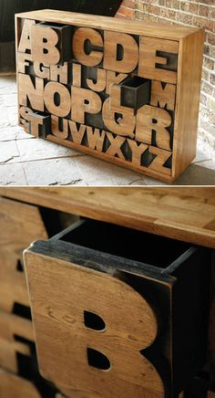 Meet the Alphadraw. Inspired by vintage printing blocks, this beautifully finished chest of 26 drawers is made from solid oak - the perfect place to file everything from A-Z!