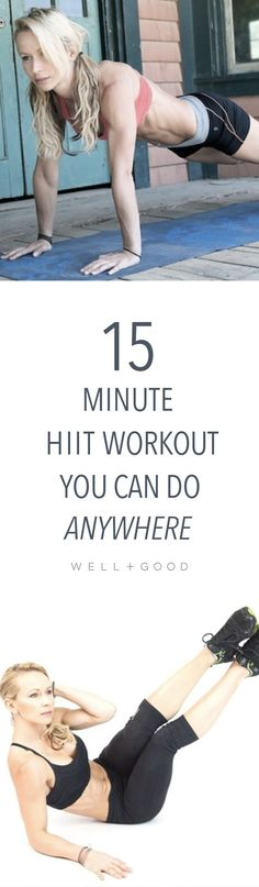 15 minute HIIT workout you could do anywhere.