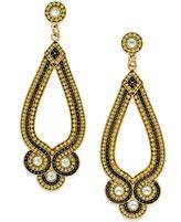Bar III Gold-Tone Beaded Drop Earrings