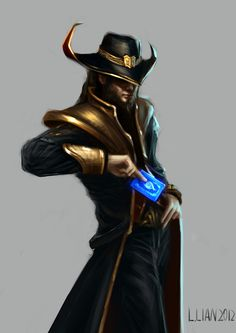Twisted Fate by float-cloud on DeviantArt Epic Characters, League Of Legends Characters, Lol League Of Legends, Fantasy Characters, Game Concept Art, Character Concept, Character Art, Legend Drawing, Twisted Fate