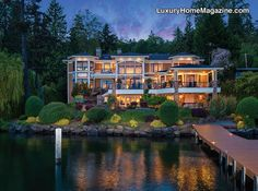 Spectacular custom-designed home featuring views of Lk. Washington, Mt. Rainier & the Olympic Mtns. This exceptional residence offers more than 100 of lakefront w/dock access for your all recreational needs. This 7 bd/7.5 ba home has quality finishes throughout. Granite & marble counters, hrdwd floors, custom cabinetry,  …