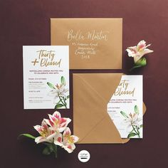 Thirty & Bless Birthday Invitation Design #minimalistdesign #minimalist #stationerydesign #invitations #invitationsuite #thirtyandblessed