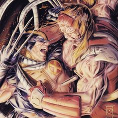 Wolverine vs Omega Red.
