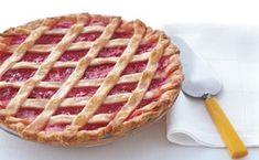 Lattice-Topped Strawberry-Rhubarb Pie