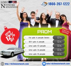 Special Discounts available for PROM Season.  Upto 12% discounts on Sedans, SUVs and Limos. So Hurry Up and book your prom ride now.  #prom2k14 #prom2014 #promlimo