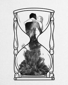 Art Print by Muhammed Salah - X-Small Illustration Art Drawing, Art Drawings Sketches, Couple Drawings, Love Art, Dark Art, Art Projects, Images, Artsy, Art Prints