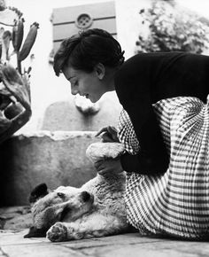Audrey Hepburn photographed by Philippe Halsman in Rome, Italy, 1954.