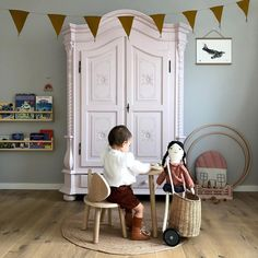 Sweetest scene sitting with our Nofred furniture and Olli Ella luggy | www.oskoe.com Nursery Room, Kids Bedroom, Kids Rooms, Kid Spaces, Small Spaces, Der Arm, Girl Room, Kids Playing, Playroom