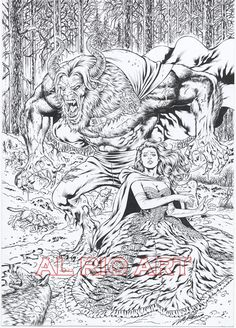Beauty and The Beast by Al Rio by AlRioArt