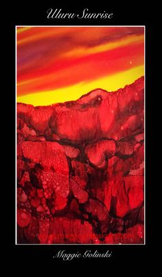 pin for later #abstractart #uluru #alcoholink