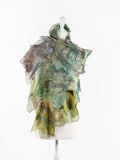 Silk and felt scarf, Silk Scarf, Bohemian Clothes, unique scarf, Hand painted silk, Unique handmade scarf, fashion scarf, wearable art See the scarf life on YouTube!! Link below https://youtu.be/rPnZyybJnME #RuggedSilkScarf Large scarf made with layers of multi-coloured hand dyed