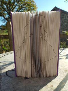 Alice Style folding book art pattern. Book folding by BookArtCo