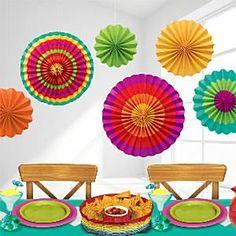 Fiesta Paper Fans - 40cm