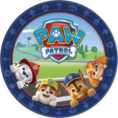 This PAW Patrol Adventure Tableware Kit for 24 Guests includes plates, napkins, a table cover, cutlery, and more. Use this kit to deck out your little one's PAW Patrol-themed birthday party. Paw Patrol Party Supplies, Kids Party Supplies, Imprimibles Paw Patrol, Paw Patrol Stickers, Paw Patrol Birthday Theme, Cumple Paw Patrol, Party Themes, Disney, Decoration